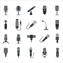 Mic Icon. Radio And Music Micr...