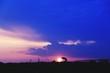 Leinwandbild Motiv Silhouette Woman Standing Against Cloudy Sky During Sunset