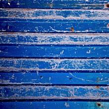 Full Frame Shot Of Blue Bench Surface