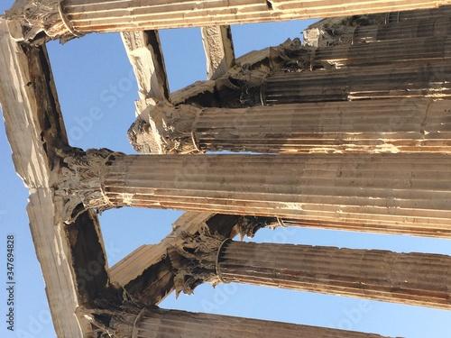 Fotografía Colonnades Against Sky At Temple Of Zeus