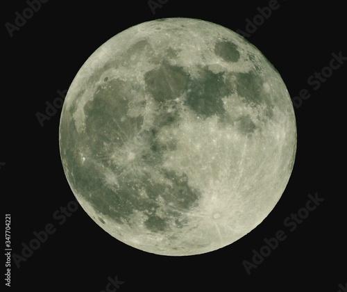 Canvas-taulu Close-up Of Full Moon At Night