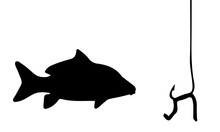 Silhouette Of Fish Going On Th...