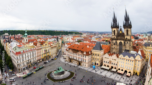 Fototapety, obrazy: Aerial view of old town of Prague
