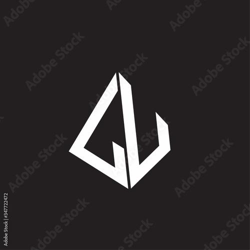 LU Logo monogram with standout triangle shape ribbon design template Fototapete