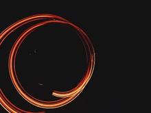 Spiral Light Painting At Night