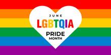Lgbt, Lgbtqia Pride Month. Vec...