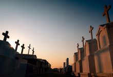 Cemetery Or Graveyard In The E...