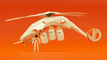 Futuristic Helicopter Hovering...