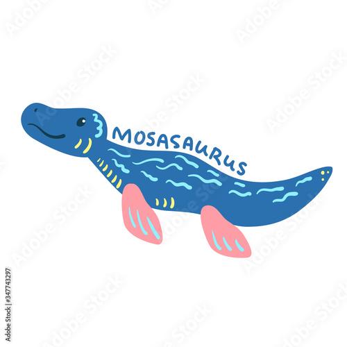 Photo Cartoon dinosaur Mosasaurus