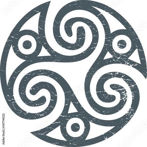Fotografie, Obraz Celtic Gaelic sacred symbol triskele or triskelion isolated