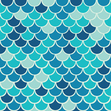 Vector  Fish Scale Seamless Pa...