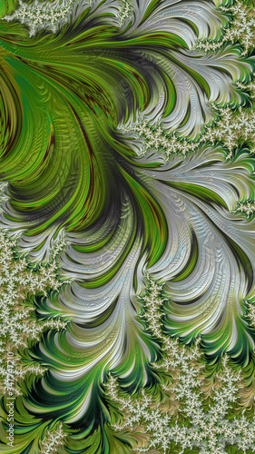 Artistic and imaginative digitally designed abstract 3D background Wall mural