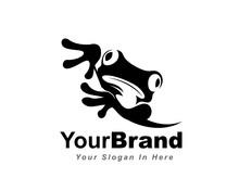 Arise Black Frog Logo Design Inspiration