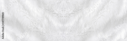 Wide animal white wool sheep background in top view light natural Fototapete