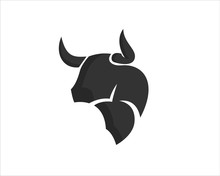 Simple Abstract Head Bull Ox C...