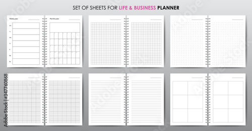 Obraz Simple vector business planner with open date - fototapety do salonu
