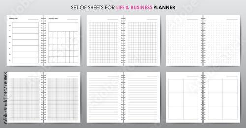 Fényképezés Simple vector business planner with open date