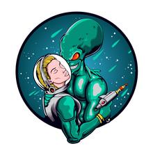 Love Blind Between Astronaut Girl And Alien