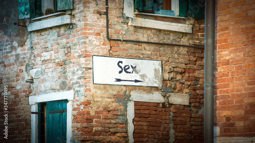 Photo Street Sign to SEX