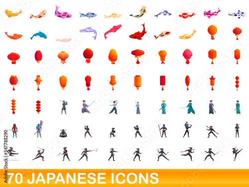 Fotografia 70 japanese icons set
