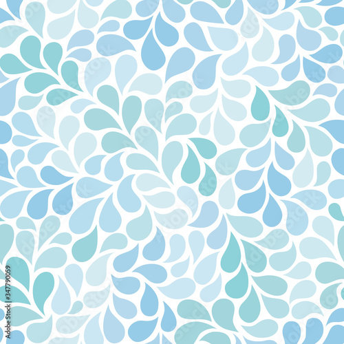 Tapety do łazienki  vector-seamless-pattern-with-blue-drops-abstract-floral-background-in-blue-tones-stylish