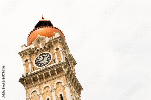 Photo Clock tower of Bangunan Sultan Abdul Samad Building.