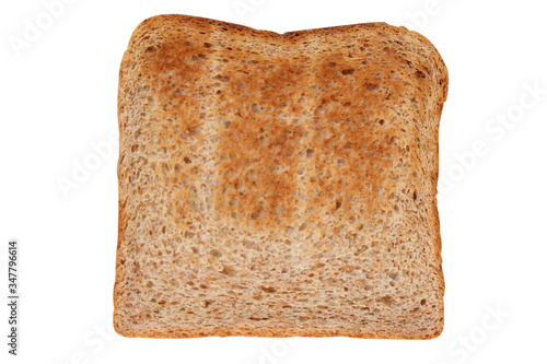 Fotografering toasted grain bread in a toaster, roasted sandwich toast, concept of healthy eat