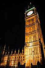 Low Angle View Of Big Ben At Night