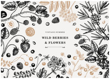 Wild Berries Vintage Design In...