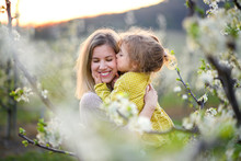 Mother With Small Daughter Sta...