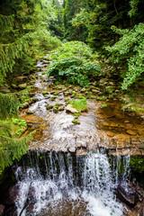 Wodospad potok strumień Sudety Karpacz Śnieżka góry