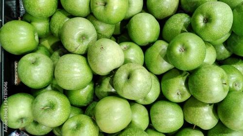Photographie Full Frame Shot Of Granny Smith Apples