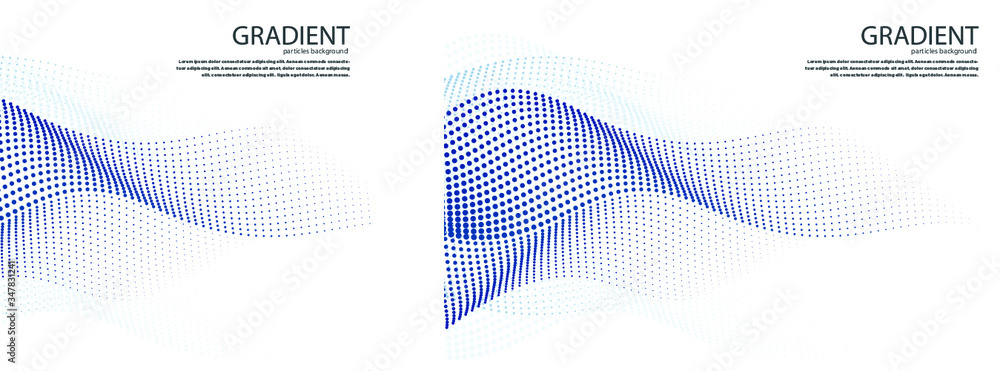 Fototapeta Gradient Particles Vector
