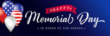 Happy Memorial Day Blue Poster...