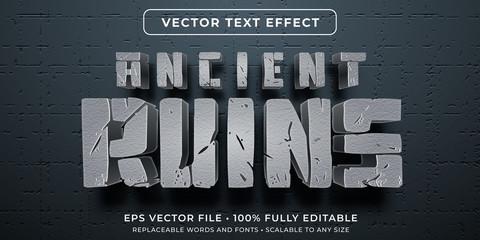 Editable text effect - ancient civilization ruins style