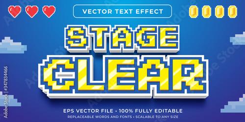 Fényképezés Editable text effect - video game pixel text style