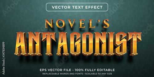 Carta da parati Editable text effect - novel story style