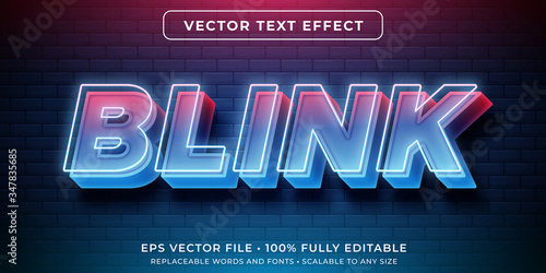 Stampa su Tela Editable text effect - neon glowing lights style
