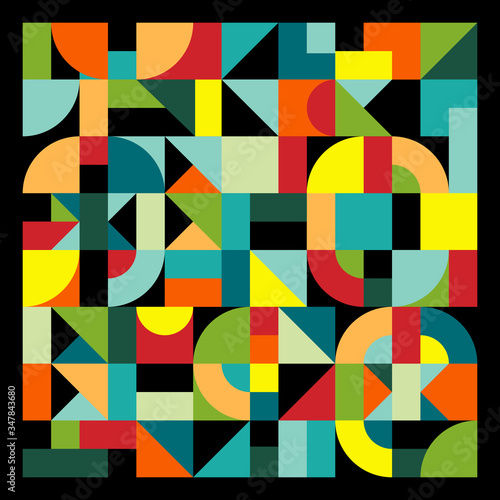 Colorful avant mosaic background Canvas Print