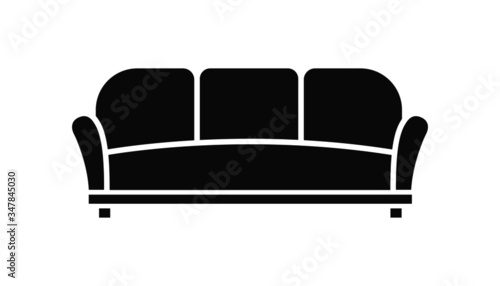 vector illustration of sofa isolated icon Poster Mural XXL