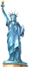 Watercolor Statue Of Liberty