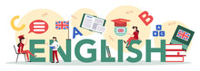 English Course Typographic Hea...
