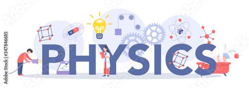 Valokuvatapetti Physics school subject typographic header concept