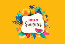 Hello Summer Abstract Backgrou...