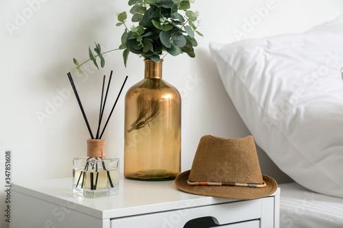Fototapeta Interior of modern comfortable bedroom obraz na płótnie