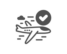 Confirmed Flight Icon. Approve...