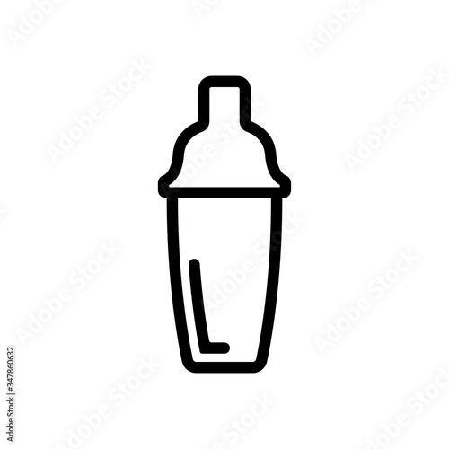 bartender shaker icon vector Obraz na płótnie