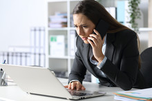 Worried Executive Calling On P...
