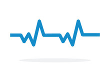 Pulse Cardiogram Vector Icon F...