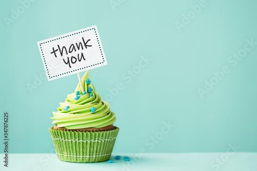 Photo Thank you cupcake